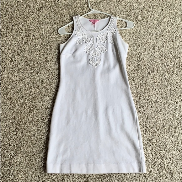 White embroidered lily pulitzer dress